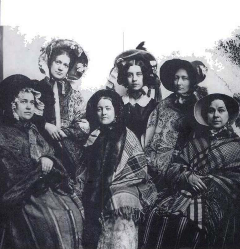 Captain's Wives, ca. 1865