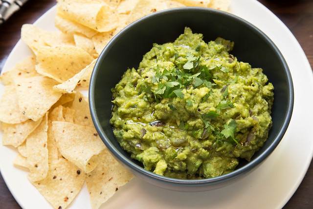 Grilled Guacamole, served