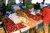 Onions at a vegetable market in La Trinidad, Benguet