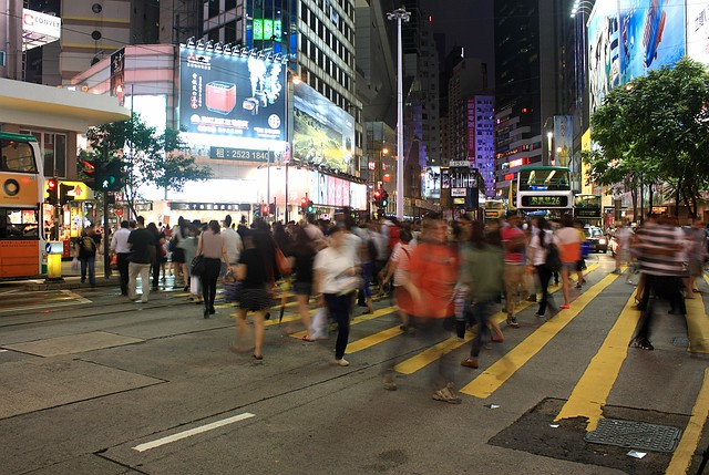 West along Hennessy Road, Causeway Bay