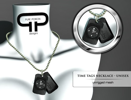Pure Poison- Time Tags - Unisex Necklace