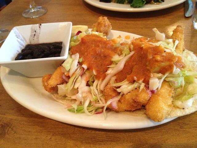 Cilantro-crusted fish tacos - Liberty Cafe