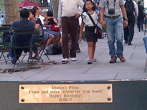 Bryant Park: Denise's Place