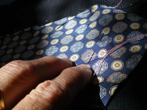 patchwork cravates soie crêpe laine