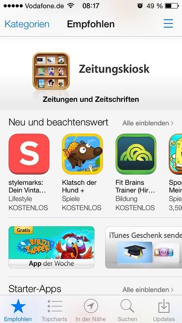 Appstore iOS 7