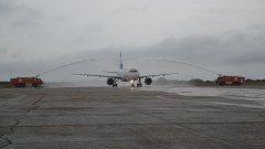 Finnair at MAO first flight