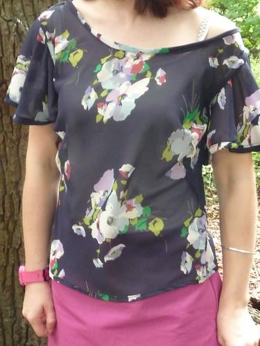 Handmade Colette Patterns Meringue Skirt and Taffy Blouse