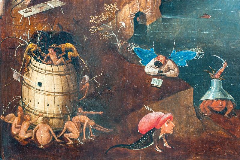Hieronymous Bosch painting. Groeningmuseum, Bruges