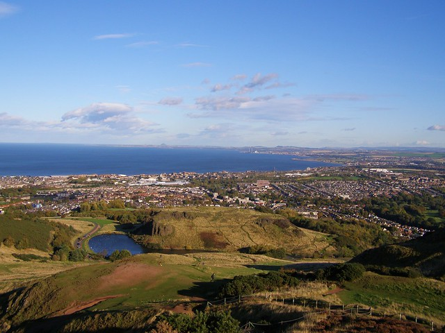 Firth of Forth from Arthur's Seat, Scotland