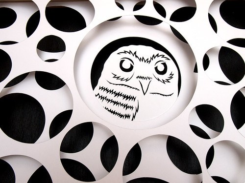 Circles and Animals- Grumpy Owl Paper Cut-2
