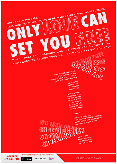 N-Trance Set You Free Lyric Poster by Adam Nelson