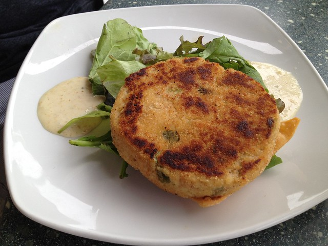 Caribbean crab cake Waterfront Cafe