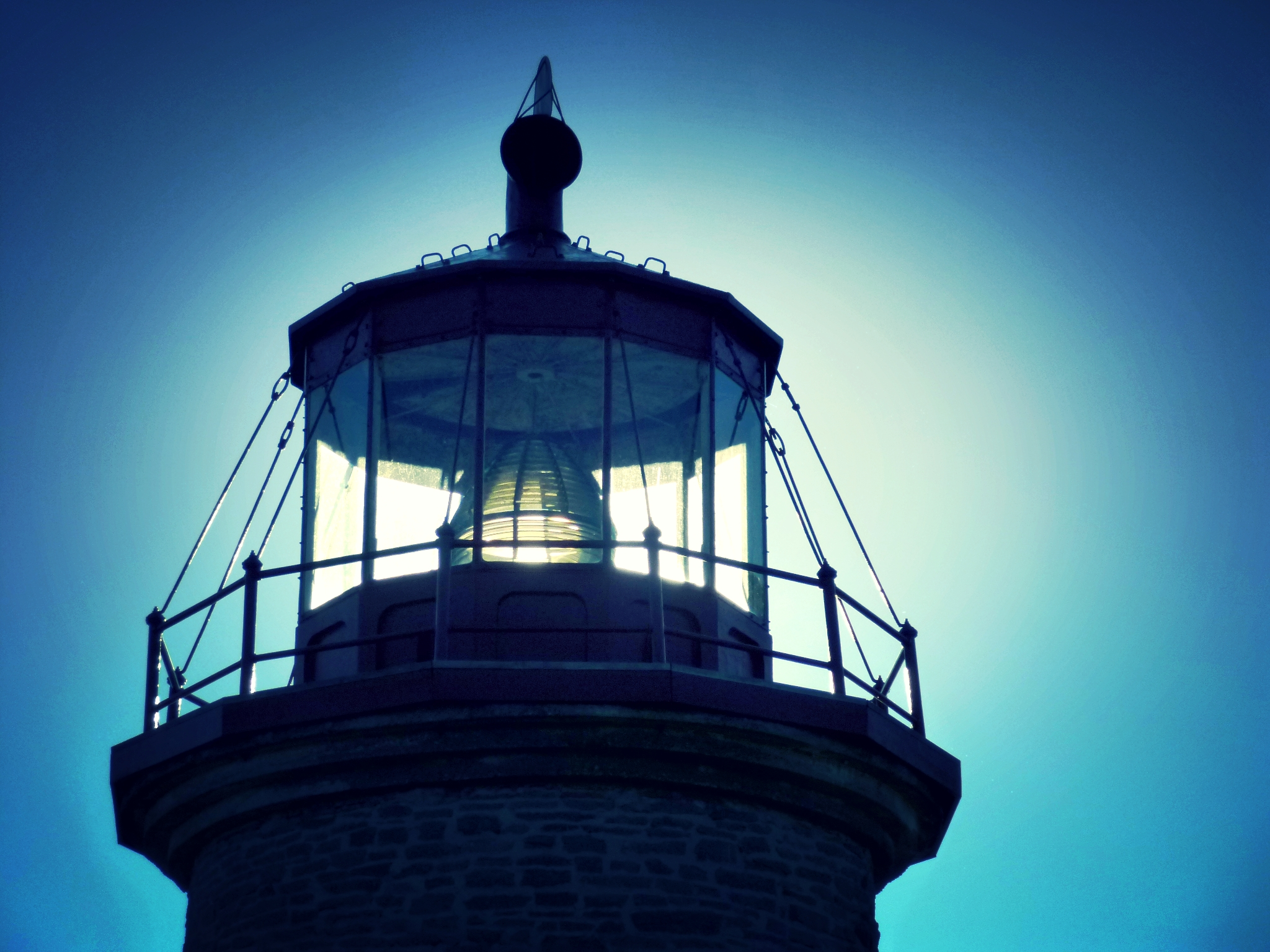 Sunlight through the lighthouse