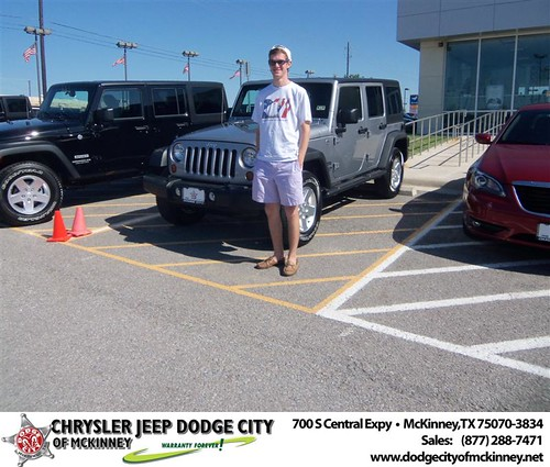 Dodge City of McKinney would like to say Congratulations to Leann Pearson on the 2013 Jeep Wrangler from Russell Hardin by Dodge City McKinney Texas