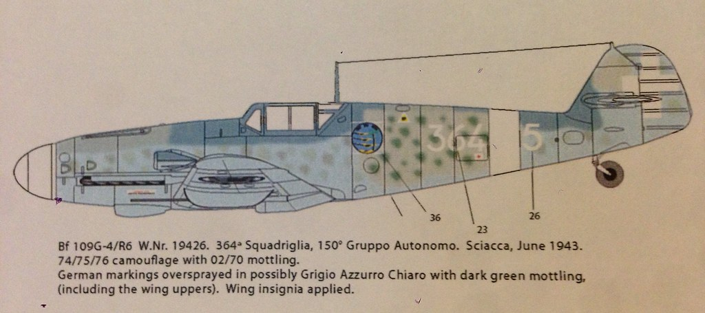 Reggia Aeronautica Bf 109G-4/R6 364*5 Side Profile