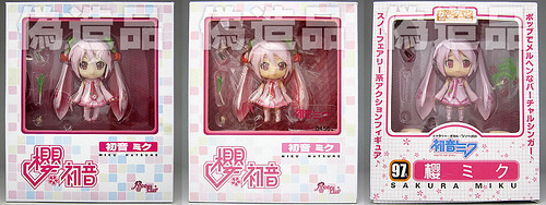 Bootleg versions of Nendoroid Sakura Miku