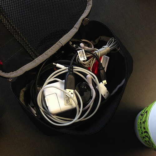 Bpsiple were happy to see me come in the office this morning. Rather, they were happy to see my bag'o'cables.