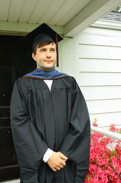 Serious graduate