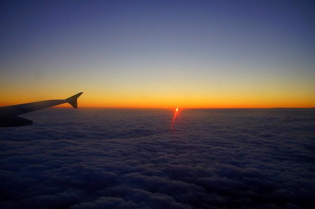 100/366 Flying sunset