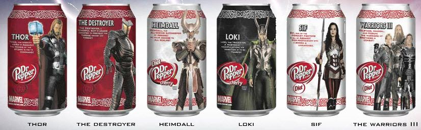 Thor collector cans set
