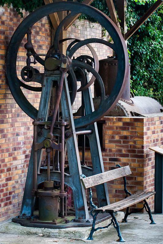 Stenay, France.  European Beer Museum. Beer poducing machinery.