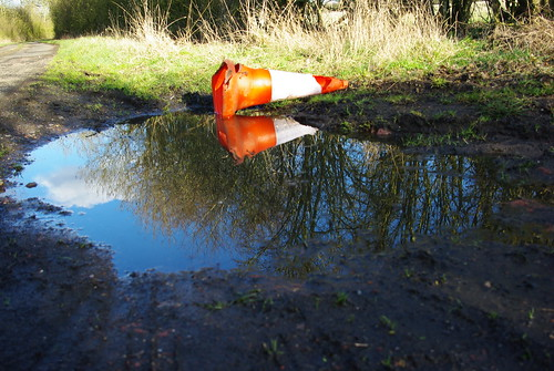 20120219-53_Discarded Traffic Cone + Reflection by gary.hadden