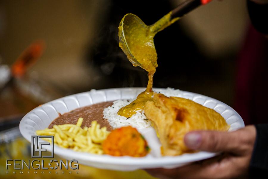 Food on mehndi night