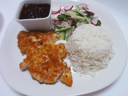 Chicken Katsu w/ fresh pickled salad