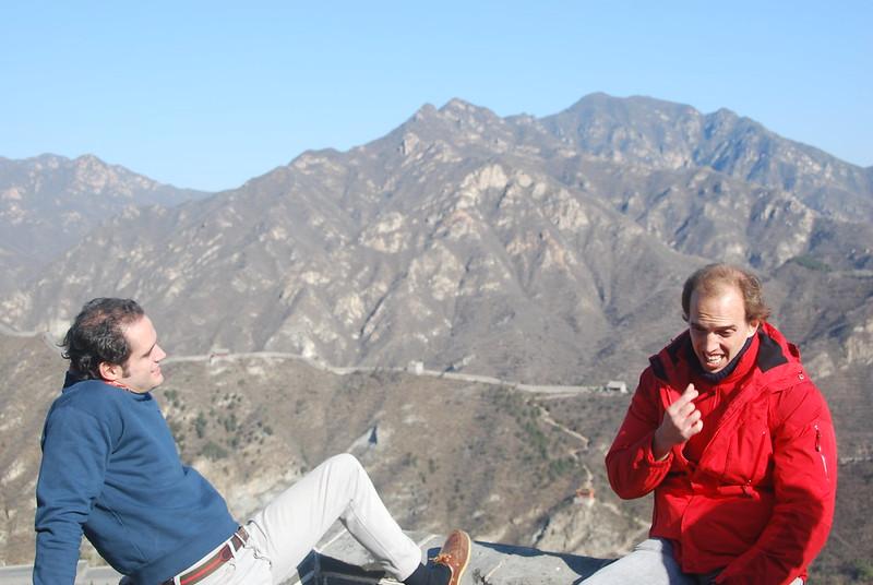 Chat at Rocky Mountain, Great Wall, China