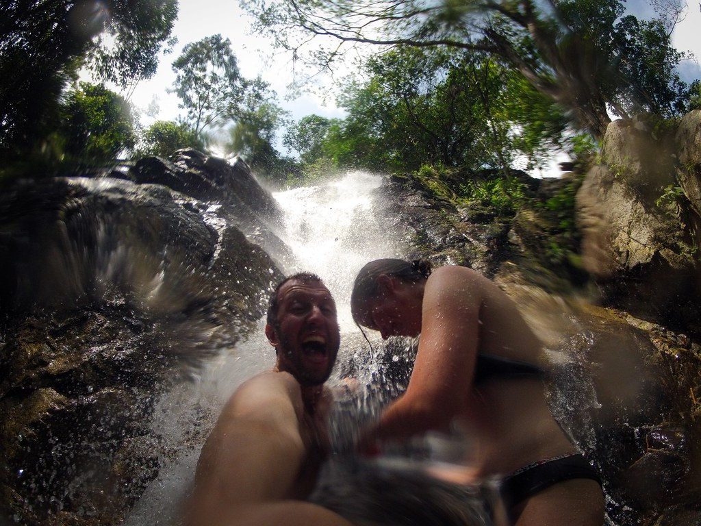 Cooling off near the village of Minca. Sierra Nevada National Park. Carribean Colombia.