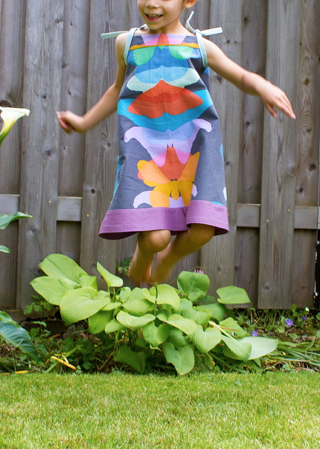 rainbow butterfly popover sundress