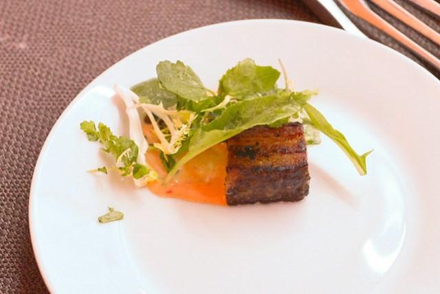 Café Firenze/Firenze Osteria cured pancetta, frisee salad, shaved black pepper pecorino