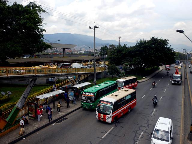 Norte bus terminal in Medellín, Colombia.