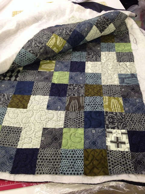 Dad's Quilt Ready to Bind