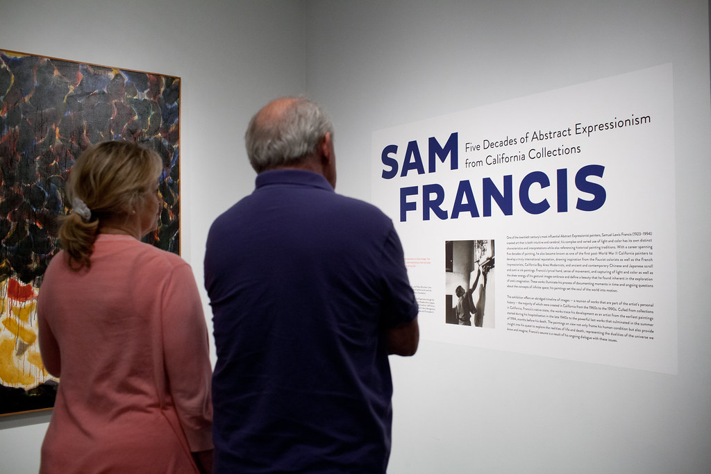 Sam Francis at the Pasadena Museum of California Art
