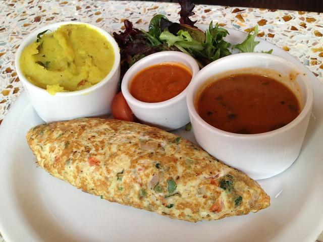 Lamb keema omelet Dosa