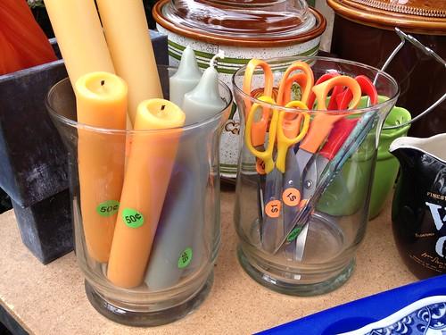 Candle and scissor jars