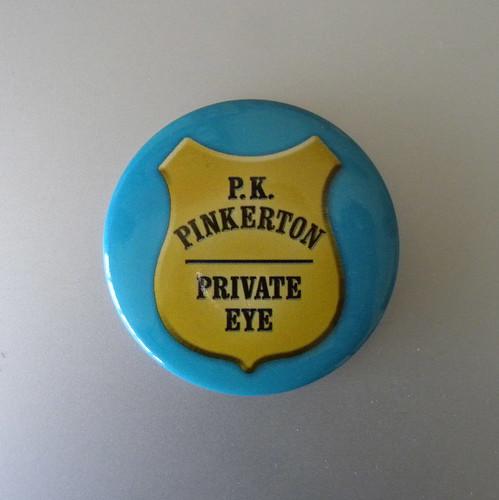 P K Pinkerton badge