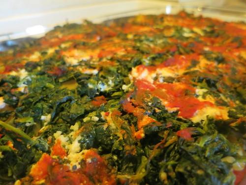 Zucchini, eggplant and spinach lasagna
