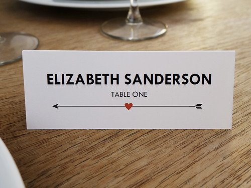 Heart and Arrow Printable Place Card