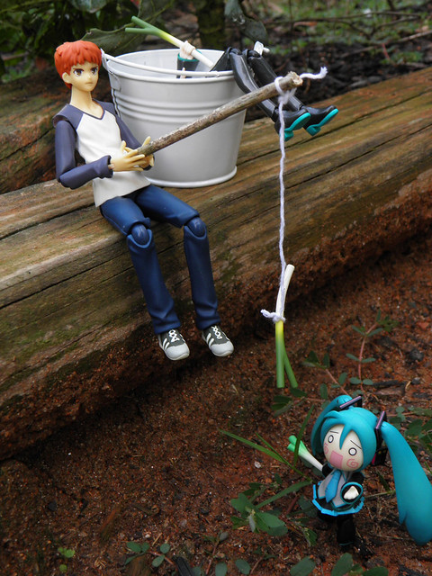 miku fishing
