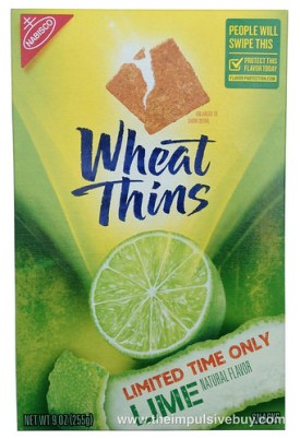 Limited Time Only Wheat Thins Lime