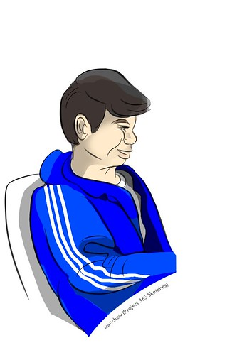 """""""Sports Jacket Man"""" (#226: Project 365 Sketches)"""