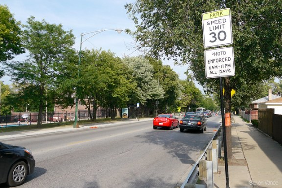 Eyes on the Street: Gompers Park Speed Cameras in Effect