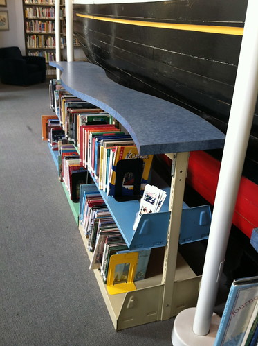 Wave bookshelves