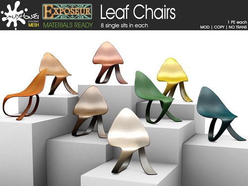 mudhoney exposeur leaf chairs