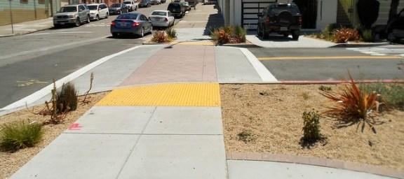 Raised crosswalks, Newcomb Ave.