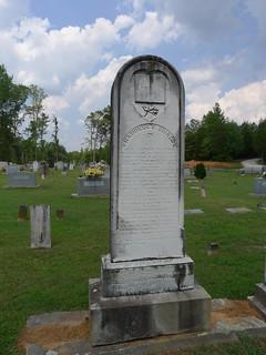 Signed headstone