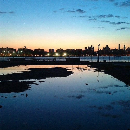 I live for this. #eastriver #sunset #reflection #brooklyn