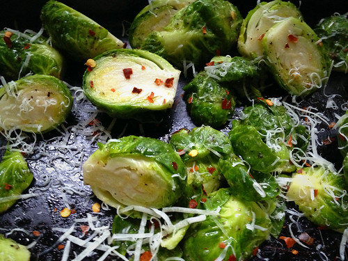 Roasting Brussel Sprouts